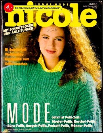 Zeitschrift Nicole 12.1985