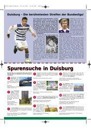Flyer Deutsche Fußball Route NRW - Duisburg nonstop