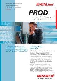 PROD Integrierte Fertigung & Ressourcenplanung - Brehmer ...