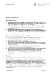 Querschnittlähmung - Leitlinien für die Diagnostik und Therapie