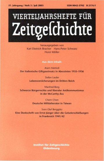 Heft 3 - Institut für Zeitgeschichte