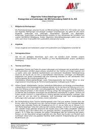 Allgemeine Verkaufsbedingungen für Erzeugnisse und Leistungen ...