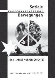 Neue Soziale Bewegungen - Forschungsjournal Soziale Bewegungen