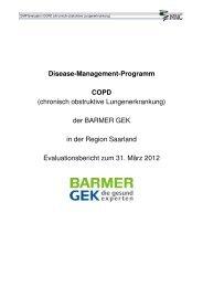 chronisch obstruktive Lungenerkrankung - Barmer GEK