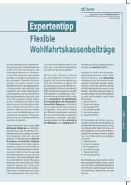 Flexible Wohlfahrtskassenbeiträge