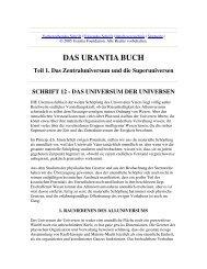 Das Urantia Buch - Schrift 12 - Das Universum der Universen