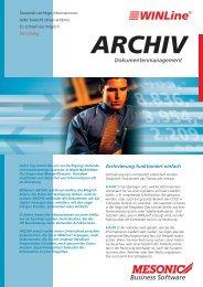 ARCHIV Dokumentenmanagement - Brehmer Software Gmbh