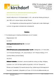 Bericht Obmann 2013.pdf - ÖTB TV Kirchdorf 1884