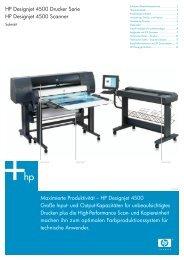 HP Designjet 4500 Drucker Serie HP Designjet 4500 Scanner ...