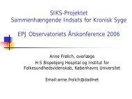 SIKS-Projektet Sammenhængende Indsats for ... - EPJ-Observatoriet