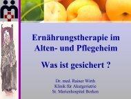 Ernährungstherapie im Alten- und Pflegeheim - DGEM