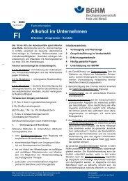 FI 0036: Alkohol im Unternehmen. Erkennen - Ansprechen - Handeln