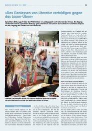 «Das Geniessen von Literatur verteidigen gegen das ... - beim LCH