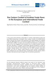 The Carbon Content of Austrian Trade Flows in the European ... - FIW