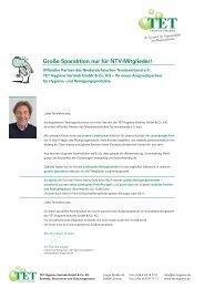 Große Sparaktion nur für NTV-Mitglieder! - Niedersächsischer ...