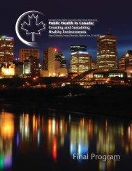 Final Program - Canadian Public Health Association