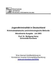 Jugendkriminalität in Deutschland - Universität Konstanz