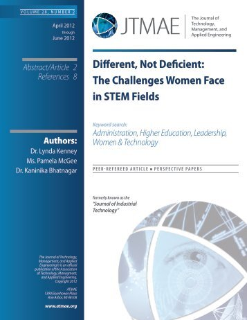 The Challenges Women Face in STEM Fields - ATMAE