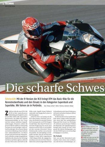 KTM 1190 RC 8 R - Moto Sport Schweiz