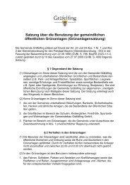 Grünanlagensatzung endgültige Fassung - Gemeinde Gräfelfing