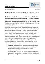 Presse-Mitteilung - TÜV Süd