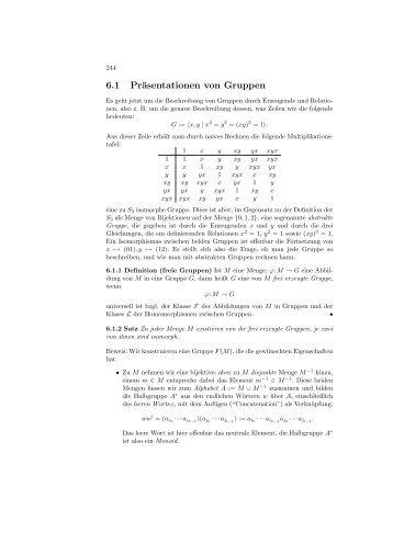 6.1 Präsentationen von Gruppen