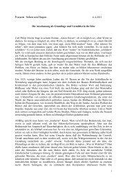 Die Anschauung als Grundlage und Vermittlerin ... - Hansjörg Wagner