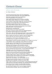 Gleitzeitglosse - Peter J. Reichard