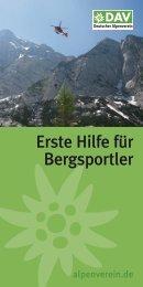 Erste Hilfe für Bergsportler - Deutscher Alpenverein