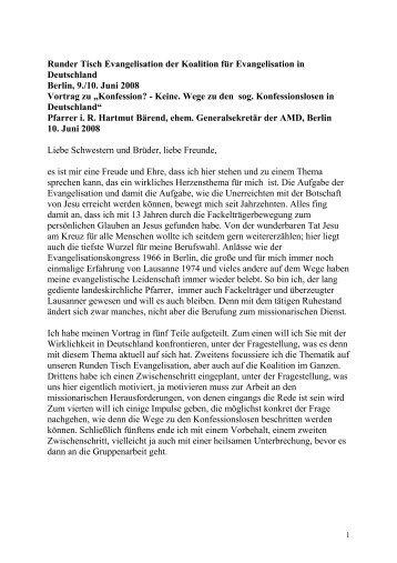 Konfession: keine - Lausanner Bewegung