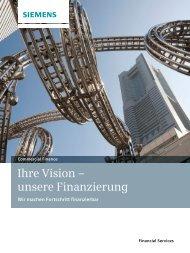 Ihre Vision – unsere Finanzierung - Financial Services - Siemens
