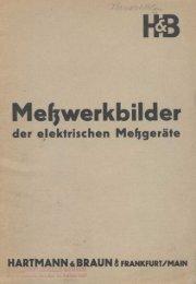 H&B - Meßwerkbilder der elektrischen Meßgeräte - bei Historische ...