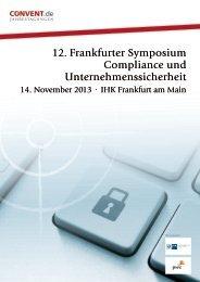 12. Frankfurter Symposium Compliance und ... - Convent
