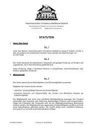 STATUTEN - Verein Chinderhus Biel-Bienne Seeland