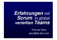 Scrum in global verteilten Teams