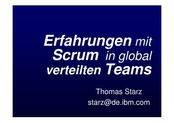 Scrum in global verteilten Teams