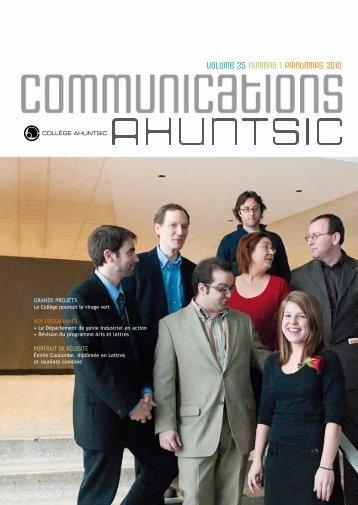 Vol. 25, numéro 1 - Collège Ahuntsic