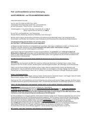 Ausschreibung Teilnahmebedingung 2013