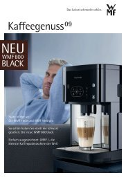 KAFFEEGENUSS 11/2009 pdf - Metz und Kindler Produktdesign