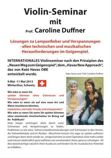 Violin-Seminar - Caroline Duffner Violinist