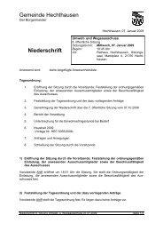 Gemeinde Hechthausen Niederschrift