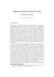 Afghanistan und das Geheimnis der Rose - CeltoSlavica