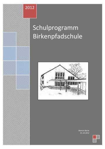 Schulprogramm - Birkenpfadschule