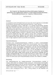 ARTICULATA 1997 12(2): 155-162 ÖKOLOGIE Ein Vergleich der ...