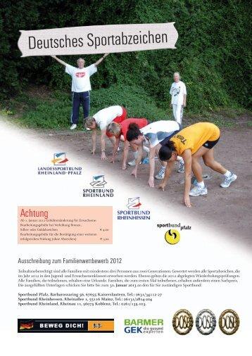 Sportabzeichen Ehrung Vereinswettbewerb 2012 - Sportbund ...