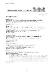 Newsletter 2/2013 - der Landesbibliothek Oldenburg