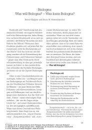 Was will Bologna? - Deutsche Zoologische Gesellschaft