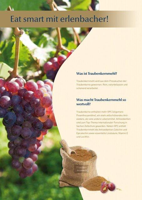 Was ist Traubenkernmehl? - Erlenbacher