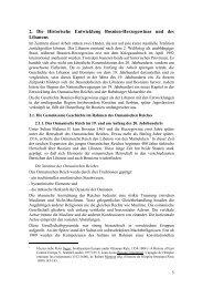 2. Die Historische Entwicklung Bosnien-Herzegowinas und des ...