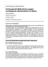 Vorbeugende Maßnahmen gegen schädigende ... - DAfStB